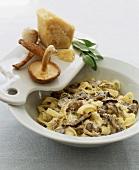 Fettucine with Parmesan, Sage and Mushrooms