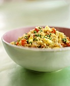 Couscous with Peas and Red Bell Peppers