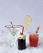 Assorted Festive Winter Holiday Cocktails