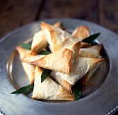 Phyllo Turnovers with Fresh Bay Leaves
