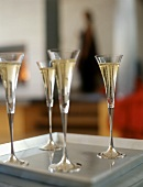 Four Glasses of Champagne