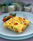 A Piece of Vegetable Frittata