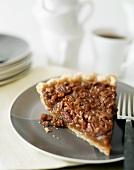 Piece of pecan pie with coffee (USA)