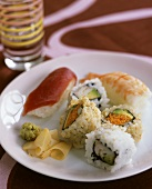 Assorted Nigiri and Maki Sushi