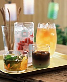 Summer Cocktails: Mojito, Raspberry Cooler, Mint Iced Coffee and Iced Tea