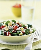 Spinach Salad with Blue Cheese, Red Grapes and Nuts