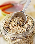 Muesli in jar