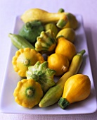 Patty pan squashes and mini-pumpkins