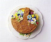 Spring cake with gianduja cream