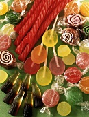 Assorted Candies: Licorice, Lollipops, Caramel Swirls, Gummy Root Beer and Sugar Free Hard Candies