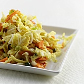 Chinese cabbage salad with carrots