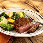 Beef fillet with vegetables