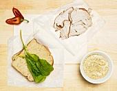 Zutaten für ein Sandwich