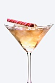 A Whisky Martini with a Peppermint Stick
