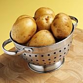 Yukon Gold potatoes in colander