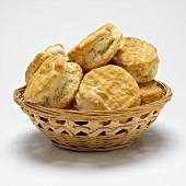 Buttermilk scones in bread basket