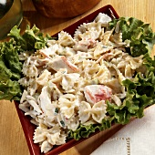 Pasta salad with crabmeat
