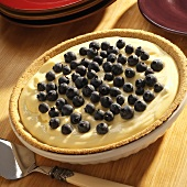 Lemon blancmange and blueberry tart for diabetics
