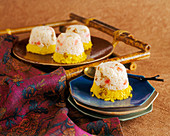 Rice timbale with saffron