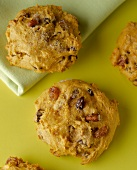 Pumpkin Raisin Walnut Cookies