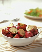 Red New Potato Salad with Black Pepper and Chives