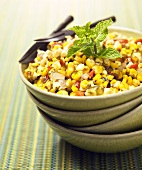 Southwestern Corn Salad with Peppers and Onions