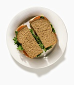 A Turkey Sandwich on Whole Wheat Bread