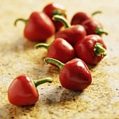 Fresh Cherry Peppers on Granite