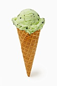 A Mint Chocolate Chip Ice Cream Cone