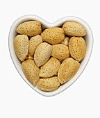 Almonds in a Heart Shaped Bowl