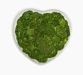 Broccoli in a Heart Shaped Bowl