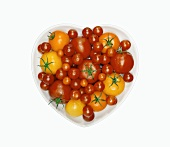 Assorted Tomatoes in a Heart Shaped Bowl