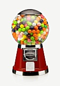 A Candy Machine Filled with Gumballs