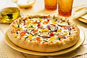 Colorful Whole Vegetable Pizza