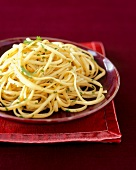 Spaghetti Tossed with Olive Oil and Cilantro