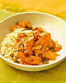 Salmon Scallopine with Capers and Rice Pilaf