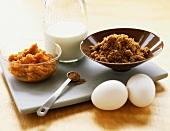 Pumpkin Puree, Brown Sugar, Eggs and Milk