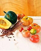 Still Life of Assorted Heirloom Vegetables