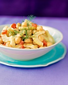 Garbanzo Bean and Fennel Salad with Dill Sprigs