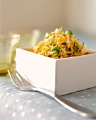 Cole Slaw in a Deep, Square Bowl