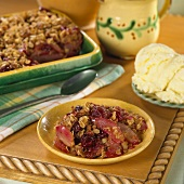 Cranberry-Pear Crisp with Oat Topping