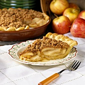 A Slice of Apple Pie with Peanut Crumb Topping