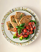 Pan-Fried Chicken Fillets with Basil and Cherry Tomatoes