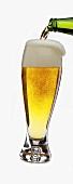 Helles Bier in Glas einschenken