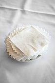 Paper Napkins Arranged on a Plate