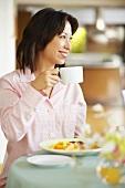 Woman at breakfast