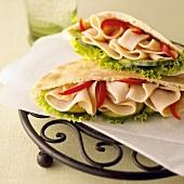 Turkey Pita Sandwiches