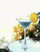Blue Tropical Martini