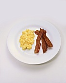 Scrambled Organic Eggs with Bacon