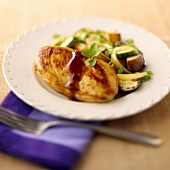 A Chicken Breast with Mixed Veggies